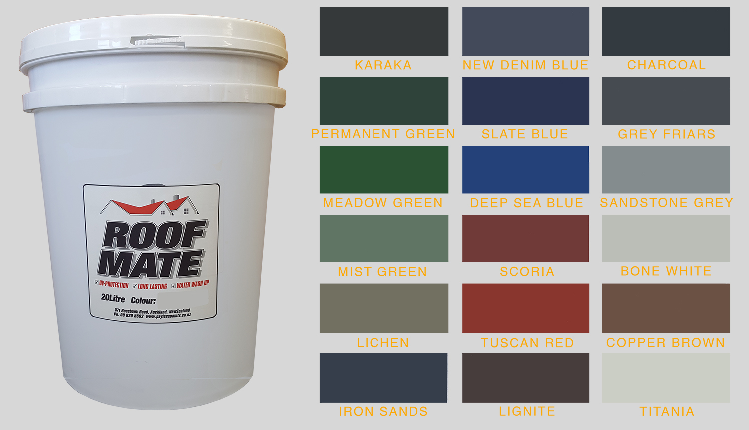 Roof Mate Roof Paint 20l Self Priming Payless Paints